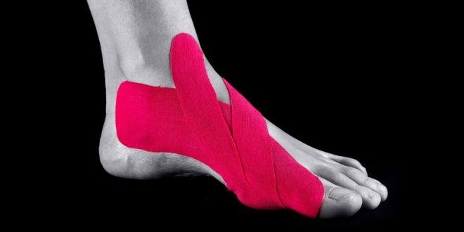 Тейпирование сустава большого пальца ноги